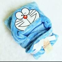 Selimut Topi Bayi Karakter Doraemon Double Fleece Bulu Halus