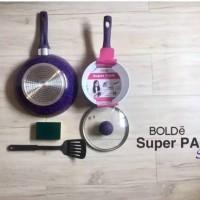 Super Pan Granite Bolde - Purple - Superpan - Panci Set- Asli