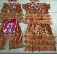 L pqd002 Pakaian Adat Papua Anakanak dan Dewasa L