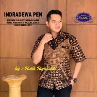 Indradewa Kemeja Batik Solo Pendek Full Furing By RajaSakti