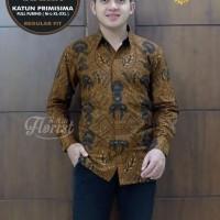 Bagaspati Lawasan Kemeja Batik Solo Panjang Full Furing By Florist - M