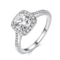 Tiaria Ring AKR002-C-7 Aksesoris Cincin Lapis Emas Putih