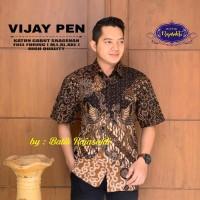 Vijay Kemeja Batik Solo Pendek Full Furing By RajaSakti