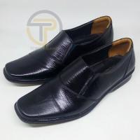 TERMURAH Sepatu kerja pria pantofel sol flat tanpa hak pantofel kulit