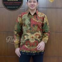Sekartaji Sogan Kemeja Batik Solo Lengan Panjang Ful Furing By Florist