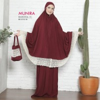 Mukena dewasa Munira original - mukena renda rayon premium