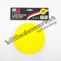 M10 5 inch Semi Firm Polishing Foam Yellow Buffing Pad Sponge Polish