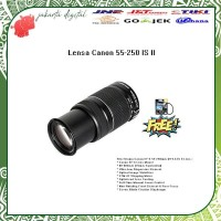Lensa Canon EFS 55-250 mm IS II Free UV filter