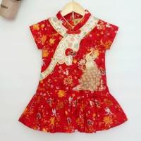 Cheongsam Merak / Cheongsam Anak Perempuan Murah / Dress Imlek Anak