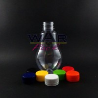 Botol Plastik Bohlam 300Ml Juice Minuman Es Susu Almond