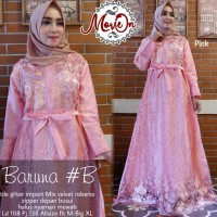 baruna dress brokat tile gliter import