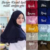 Jilbab Bergo Kriwil Lipit Tali Khimar KCB Remple Hijab Instan Wolfis