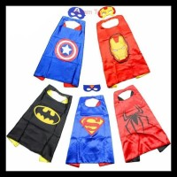 New Jubah Superhero Batman Superman Captain America Anak-Anak + Topeng