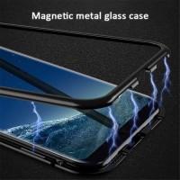 CASE SAMSUNG S8 PLUS MAGNETIC GLASS FULL PROTECTION ANTI BENTURAN