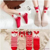 Lucu ✽ Up ✽ Kaos Kaki Natal Motif Santa Claus untuk Hadiah Anak