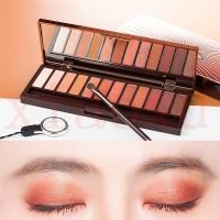 Cantik ORI Palet Eyeshadow 12 Warna Warm Earth / Rose / Coklat