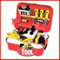 tool back pack no.8017 mainan fun alat tukang builder anak