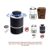 Perangkap Nyamuk Jebakan Lalat Kipas Lampu LED UV Ultraviolet Elektrik