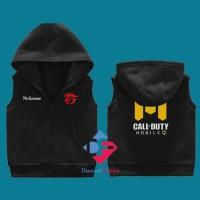 Jaket Vest Zipper Anak Call Of Duty Nickname Sendiri - Diamond Fashion