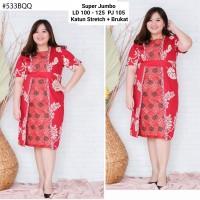 Dress Batik Brukat Ukuran Bigsize 533