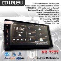 Mirai MR 7337 Tape Head Unit Double Din Android 9 PIE Garansi Resmi