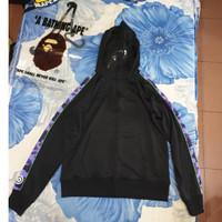 Bape zip hoodie Black with Purple Camouflage