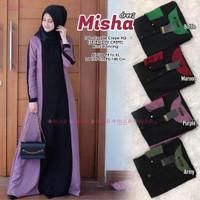Baju Gamis Crepe High Quality Busui Fit XL | Misha Dress | Ungu