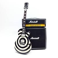 Miniatur Gitar Black Label dan Miniatur Sound System Marshall