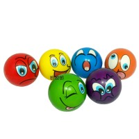Mainan Anak Bola Remas Squishy Busa Karakter Smile 6 Warna Besar