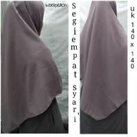 Hijab jilbab kerudung segi empat jumbo polos wolfice syari uk 140x140