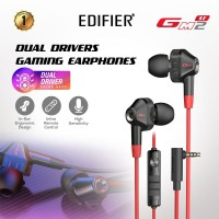 EDIFIER Earphone HD Dual Driver GM2 SE Black - Red
