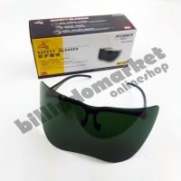 RDEER Kacamata Las Safety Smoke Green Lensa Lebar PREMIUM QUALITY