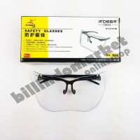 RDEER Kacamata Safety Clear Lensa Lebar PREMIUM QUALITY