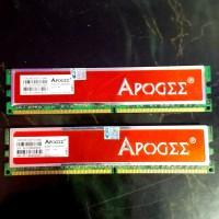 ram ddr 2 apogee pc 6400 2gb x (2 keping)