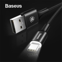 BASEUS CABLE RAPID WITH LED LIGHT KABEL USB TYPE C 2A FAST CHARGING 2M