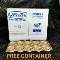 Unsalted Butter Elle & Vire (Mentega Tawar) 10gr x 10pcs