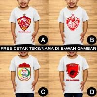 PSM Makassar Baju Kaos Bola Anak dan Balita Custom Teks/Nama