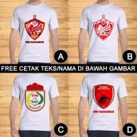 Kaos Dewasa Bola PSM Makassar Cotton Pria Wanita Custom Teks/Nama