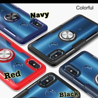 New i-case Redmi Note 5 Hybrid Ring Stand Clear mi redmi note 5 pro
