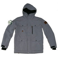 Quiksilver raft mission jacket grey original