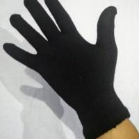 Sarung tangan bahan Rajut Hitam Polos Panjang/Full Gloves tebal by EBJ