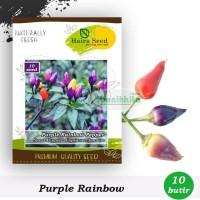 Benih-Bibit Cabe Hias Pelangi Purple Rainbow (Haira Seed)