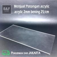 akrilik potongan 2mm bening / acrylic custom / akrilik lembaran / mika