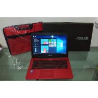 Laptop Asus A455L Core i3 Gen 5 Ram 4GB HDD 500GB Murah Mulus Red