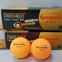 ORIGINAL POWERSPIN TOURNAMENT BOLA PINGPONG / TENIS MEJA ISI 3