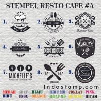 stempel logo bisnis cafe resto makanan kuliner gofood grabfood stamp