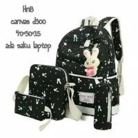 Tas Sekolah Anak Perempuan 4 in 1 Backpack Slingbag Pouch Bunny