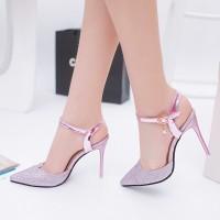 IELGY Sepatu High Heels Ujung Lancip untuk Pernikahan