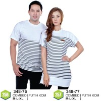 Kaos Couple Baju Couple Putih Keren 348-77 (wanita)