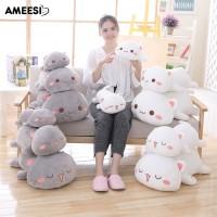 SALE Mainan Bantal Boneka Plush Stuffed Bentuk Hewan Kucing Lying